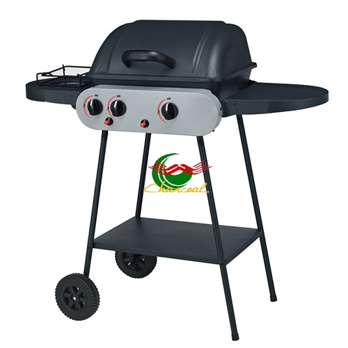 LPG gas 2+1 burners professional outdoor gas grill with oven