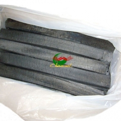 Factory price quadrangle barbecue sawdust charcoal for sale